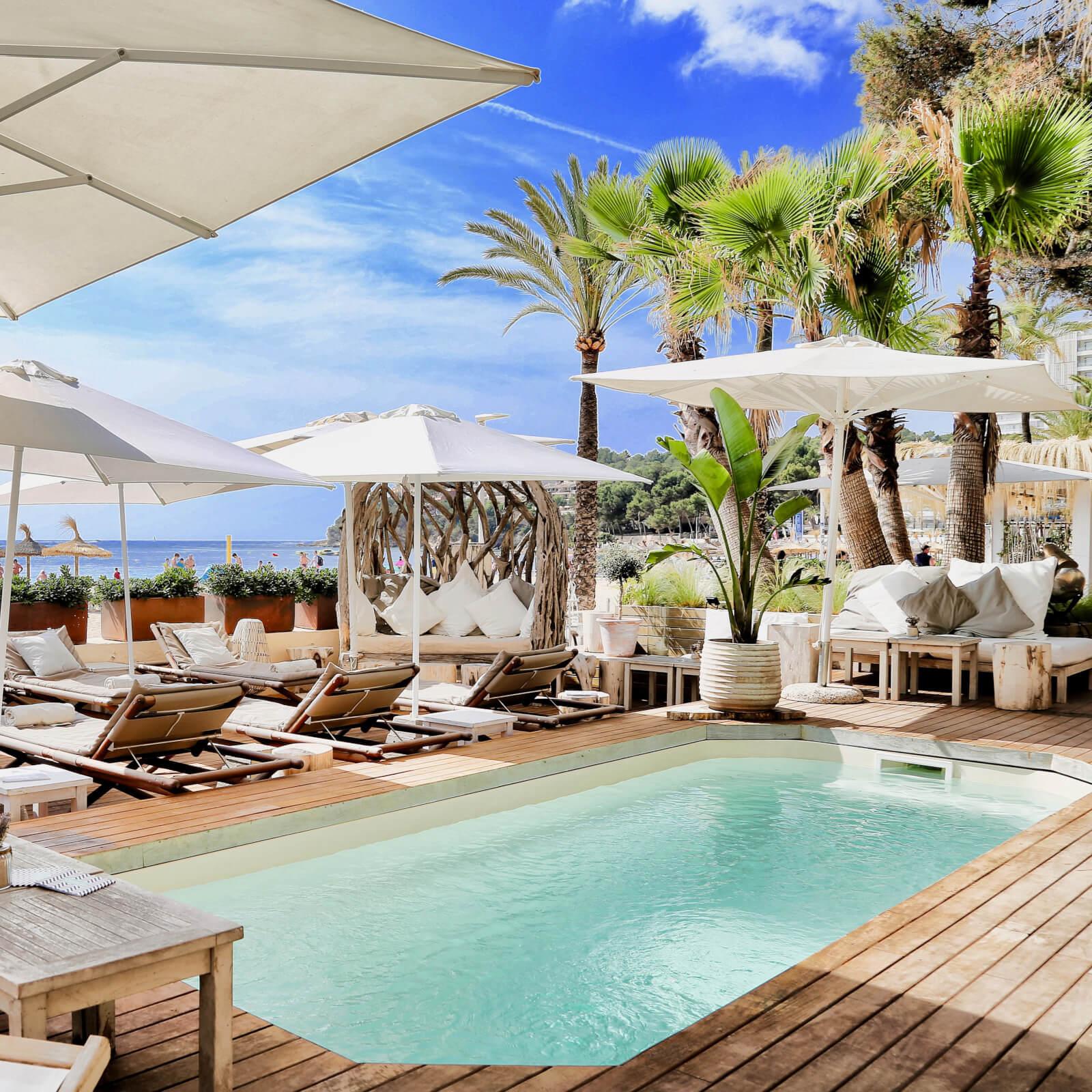 Zhero Boathouse Magaluf Mallorca Chillout-Restaurant Beachclub